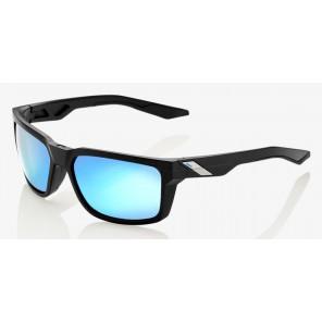 Okulary 100% DAZE Matte Black - HiPER Blue Multilayer Mirror Lens (Szkła Niebieskie Lustrzane Wielowarstwowe, przepuszczalność światła 15%) (NEW)