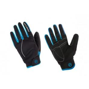Accent Rękawiczki ocieplane Snowflake czarno-turkusowe XS