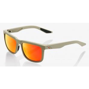 Okulary 100% BLAKE Soft Tact Quicksand - HiPER Red Multilayer Mirror Lens (Szkła Czerwone Lustrzane Wielowarstwowe)