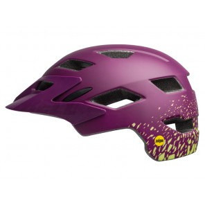Kask juniorski BELL SIDETRACK MIPS matte plum pear fragments roz. Uniwersalny (50–57 cm)