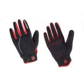 Accent Rękawiczki ocieplane Snowflake czarno-czerwone XS
