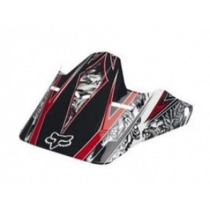 Daszek Do Kasku Fox V-1 Print Razor Black/red