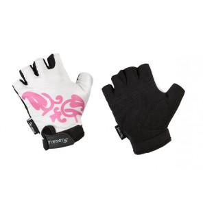 Accent Rękawiczki damskie KALLIOPE biało-ciemnoróżowe XS