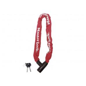 Zapięcie rowerowe MASTERLOCK QUANTUM 8391 ŁAŃCUCH 8mm 40mm 90cm KLUCZYK czerwone