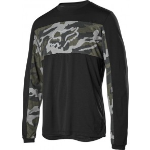 Koszulka Rowerowa Fox Z Długim Rękawem Ranger Dr Foxhead Green Camo