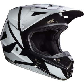 Fox 2016 V1 Race kask -biało-czarny-L