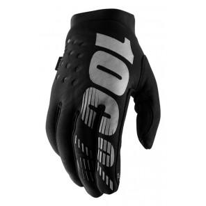 Rękawiczki 100% BRISKER Glove black grey roz. S (długość dłoni 181-187 mm) (NEW)