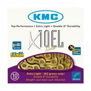 KMC Łańcuch X10EL114 ogniw złoty BOX