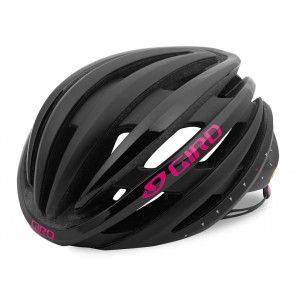 Kask szosowy GIRO EMBER INTEGRATED MIPS matte black bright pink roz. M (55-59 cm) (NEW)