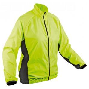 Kurtka kolarska AUTHOR Active żółto-czarna rozmiar L, odbite logo na rękawie oraz barku