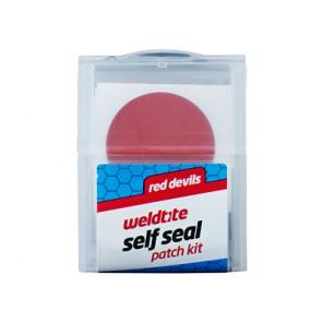 Łatki do dętek zestaw WELDTITE RED DEVILS SELF SEAL PATCH KIT 6x łatki samoprzylepne pudełko 20szt.