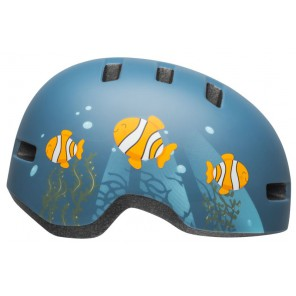 Kask dziecięcy BELL LIL RIPPER clown fish matte gray blue roz. S (52–56 cm) (NEW)