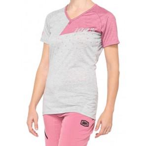 Koszulka damska 100% AIRMATIC Women's Jersey krótki rękaw grey mauve