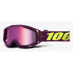 Gogle 100% RACECRAFT KLEPTO (Szyba Różowa Lustrzana Anti-Fog + Szyba Przezroczysta Anti-Fog + 10 Zrywek)