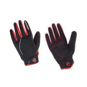 Accent Rękawiczki ocieplane Snowflake czarno-czerwone XL