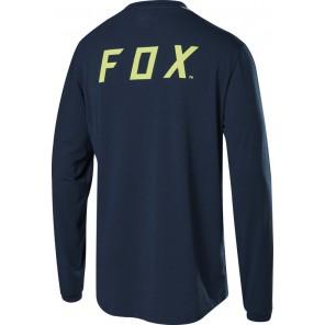 FOX Koszulka Rowerowa  z Długim Rękawem Ranger Dr  Navy