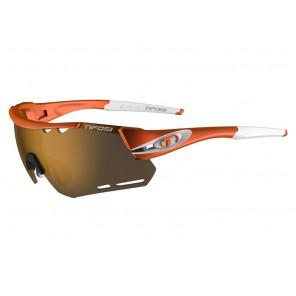 Okulary TIFOSI ALLIANT matte orange (3szkła Brown 17,1% transmisja światła, AC Red, Clear) (NEW)