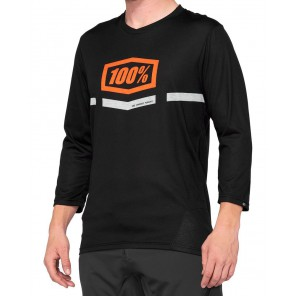 Koszulka męska 100% AIRMATIC 3/4 Sleeve black orange roz. M (NEW)
