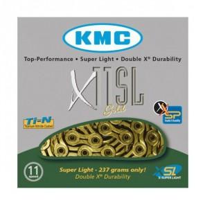 KMC Łańcuch X11' SL 118 ogniw złoty BOX