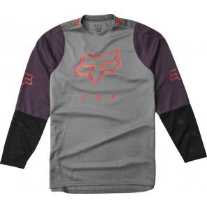Koszulka Rowerowa Fox Junior Z Długim Rękawem Defend Pewter