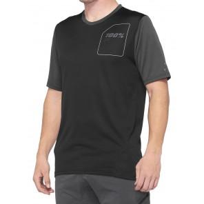 Koszulka męska 100% RIDECAMP Jersey krótki rękaw charcoal black