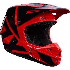Fox 2016 V1 Race kask -czarno-czerwony-XL