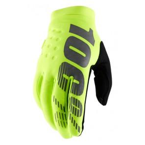 Rękawiczki 100% BRISKER Glove fluo yellow roz. L (długość dłoni 193-200 mm) (NEW)