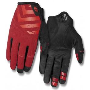 Rękawiczki męskie GIRO DND długi palec dark red birght red roz. XXL (obwód dłoni od 267 mm / dł. dłoni od 211 mm) (NEW)