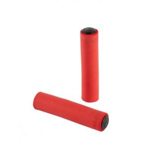 Chwyty kierownicy Silicon 130mm, czerwone