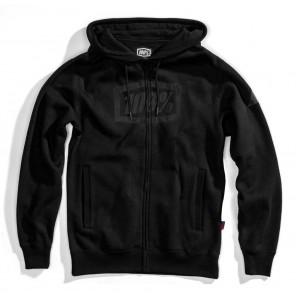 Bluza męska 100% SYNDICATE Hooded Zip Sweatshirt Black Black roz. L (NEW)