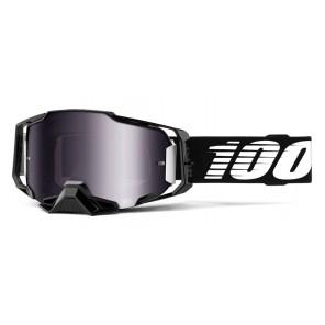 Gogle 100% ARMEGA Googgle Black Silver Flash Mirror