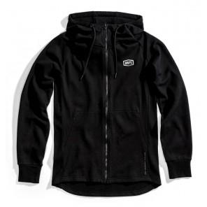 Bluza męska 100% STRATOSPHERE Hooded Zip Tech Fleece Black roz. L (NEW)