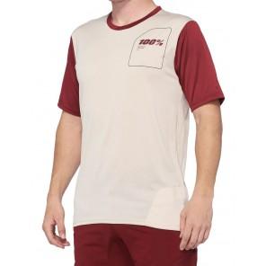 Koszulka męska 100% RIDECAMP Jersey krótki rękaw stone brick