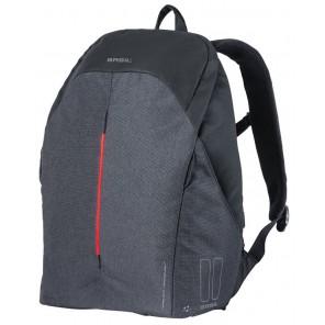 Plecak BASIL B-SAFE BACKPACK NORDLICHT 18L, mocowanie na haki Hook-On System, grafitowa czerń + Oświetlenie (NEW)