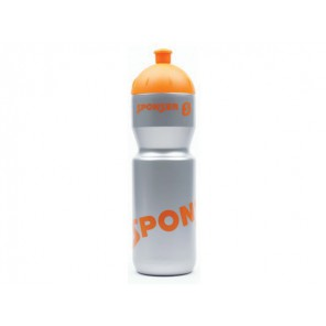 Bidon SPONSER FARBIG srebrny, pomarańczowe logo 750 ml (NEW)