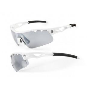Accent Okulary Storm biało - czarne; soczewki PC: szare lustrzane, przezroczyste