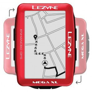 Komputer rowerowy LEZYNE MEGA XL GPS metallic red (LIMITED EDITION)