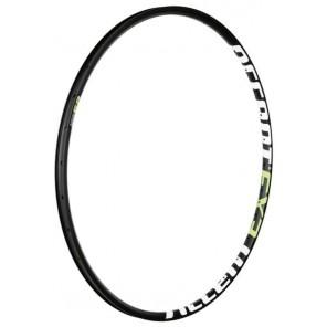 """Obręcz EXE 27.5"""" 32 otwory, czarno-biało-zielona, szerokość 22,5mm, tubeless ready"""