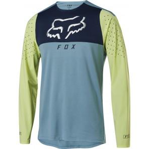 FOX Koszulka Rowerowa  z Długim Rękawem Flexair Delta Light Blue