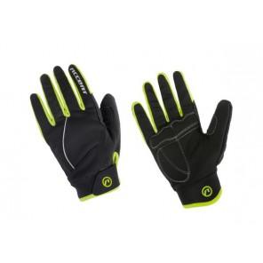 Accent Rękawiczki ocieplane Snowflake czarno-żółto fluo L