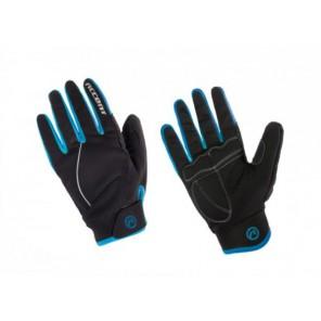 Accent Rękawiczki ocieplane Snowflake czarno-turkusowe L