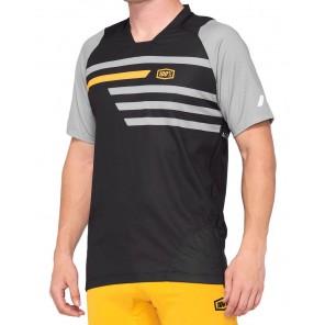 Koszulka męska 100% CELIUM Jersey krótki rękaw black mustard