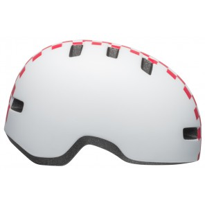 Kask dziecięcy BELL LIL RIPPER checkers matte white pink roz. S (52–56 cm) (NEW)