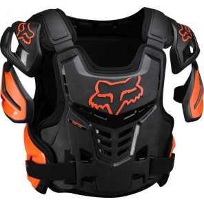 Buzer Fox Adult Raptor Vest Black/orange S/m