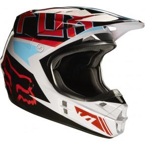 Fox 2016 V1 Falcon kask -biało-czerwono-czarny-XL