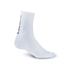 Skarpety GIRO HRC TEAM white black roz. L (43-45) (NEW)