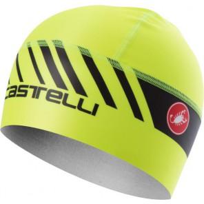 Castelli Czapeczka kolarska Arrivio 3, żółta fluo, rozmiar UNI