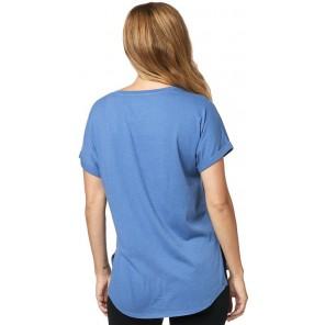 T-shirt Fox Lady Responded Blue/white