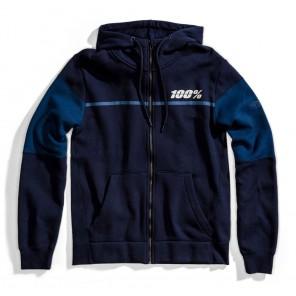 Bluza męska 100% EMISSARY Hooded Zip Sweatshirt Navy roz. L (NEW)