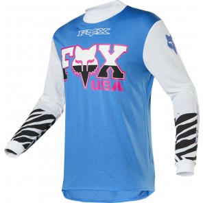 Bluza Fox Retro Zebra Cyan M